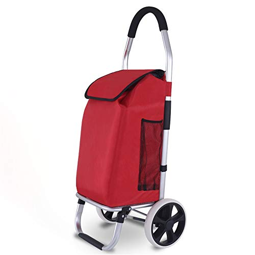 TAESOUW-Home Folding Shopping Cart Best Comfort Shopping Trolley Bag with Rolling Swivel Wheels Utility Grocery Cart with Waterproof Canvas Bag (Color : D7, Size : Free Size)