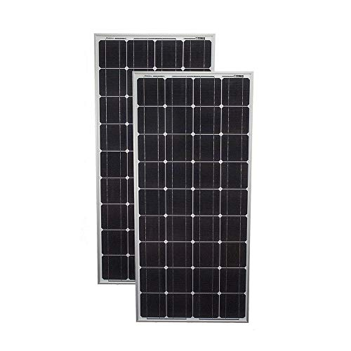 Mighty Max Battery 100 Watt 12 Volt Monocrystalline Off Grid Solar Panel - 2 Pack Brand Product