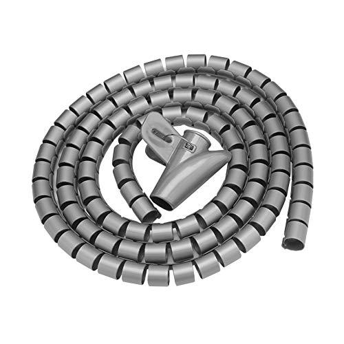 Tubo de envoltura en espiral, reutilizable, organizador de cables de tubo en...
