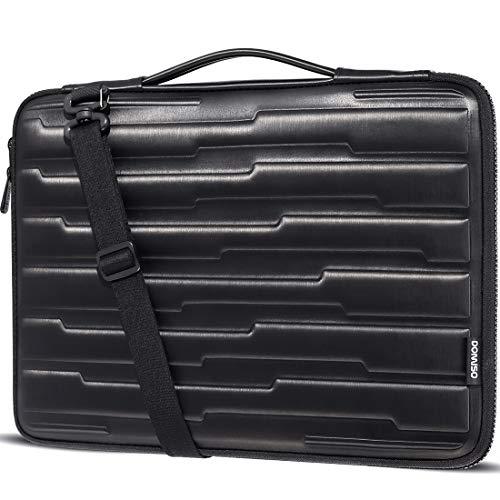 DOMISO 13.3 Inch Laptop Sleeve Shouder Bag Shock Resistant Protective Case Handbag for Apple 13' MacBook Air / 13.3' Lenovo ThinkPad X380 Yoga/HP EliteBook 745/840 G5/ 14' DELL New Inspiron 5482