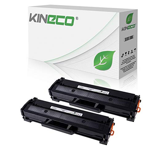 2 Kineco XXL Toner (150% mehr Inhalt!) kompatibel mit Samsung MLT-D111S für Samsung M2026W, M2022W, M2022, M2070W, M2070FW, M2020, M2000 - MLTD111S/ELS Schwarz je 2.500 Seiten