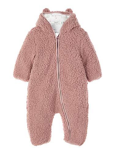 NAME IT Baby-Mädchen NBFMAUV Suit Schneeanzug, Rosa (Woodrose Woodrose), 74/80 (Herstellergröße: 74-80)