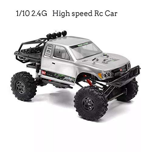 OD.zepp Construido 1/10 2.4G 4WD 25 kilometros/H de Alta Velocidad RC Car Motor de Cepillado, 4 Canales de Off-Road Rock Crawler Trail Plataformas de Camiones de Juguete RTR