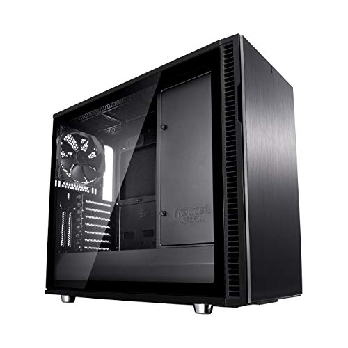Fractal Design Define R6 USB-C–TG Escritorio Negro - Caja de ordenador (Escritorio, PC, Aluminio, Acero, Vidrio templado, ATX,EATX,ITX,Micro-ATX, Negro, Juego)