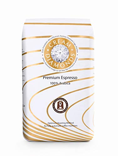 Cream Diamonds 100 % Arabica Café-Espresso ganze Bohne optimiert für Kaffeevollautomaten - 6 x 1000 g