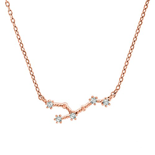 """PAVOI 14K Gold Plated Astrology Constellation Horoscope Zodiac Necklace 16-18"""""""