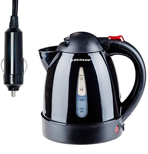 Dunlop Wasserkocher 24 Volt - 0,8 Liter/ 24V -geeignet für Wohnwagen,LKW,Boot mit 24 Volt Anschluss, inklusive E-Book