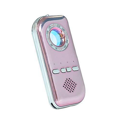 youyu6-2o521 Equipo de detección GPS Multifuncional portátil Anti-espía Detector de cámara Oculta cámara de cámara Oculta con Ocho Luces (Oro Rosa) Detector de Radar para vehículos