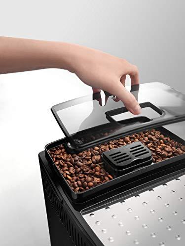 De'longhi Magnifica S - Cafetera Superautomática con 15 Bares de Presión, Cafetera para Espresso y Cappuccino, 13 Programas Ajustables, Sistema de Auto-limpieza, ECAM 22.110.B, Negra 35x24x43cm