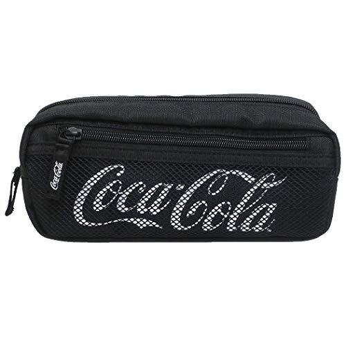 コカコーラ[ペンポーチ]メッシュポケットペンケースおやつマーケット【BLACK 】