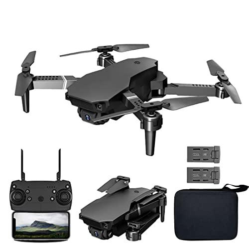 JJDSN Dron con WiFi FPV para Adultos y niños, Nuevo dron Plegable con cámara Dual UAV 4K HD, cuadricóptero RC para Principiantes, Mantenimiento de Altura, Modo sin Cabeza, Foto automática/gestua