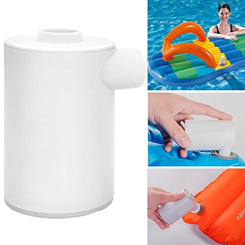 DirkFigge Tragbare Max Luftpumpe Aufladbare, leichte Luftpumpe zum Aufblasen des Bettes für Matratzenschlafsäcke