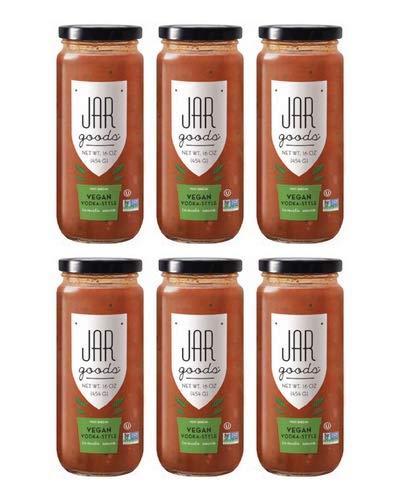 Jar Goods Vegan Vodka-Style Tomato Sauce 16 oz Glass Jar (Pack of 6)