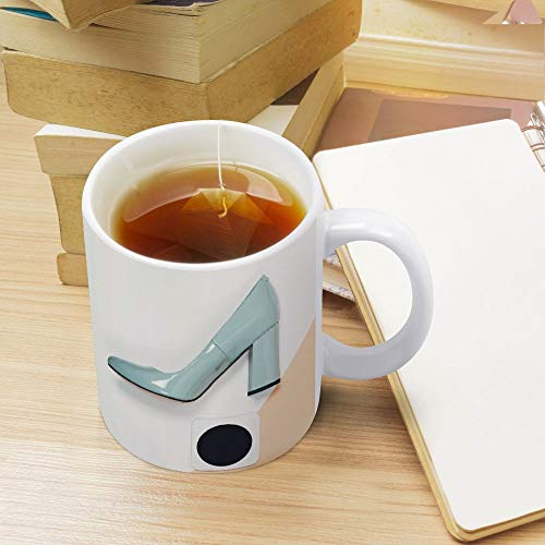 Kaffeetasse, Teetasse, Keramik, mit Henkel, 325 ml, perfektes individuelles Geschenk für Kinder, Ehemann, Vater, Mutter, Opa, Oma – High Heels Schuhe Pumps