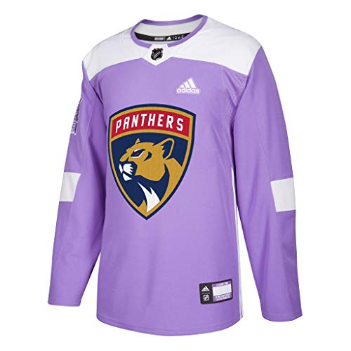 adidas Florida Panthers Hockey Fights Cancer Authentic Pro Jersey (56/XXL)