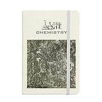 暗い石の壁の表面テクスチャひび割れ 化学手帳クラシックジャーナル日記A 5