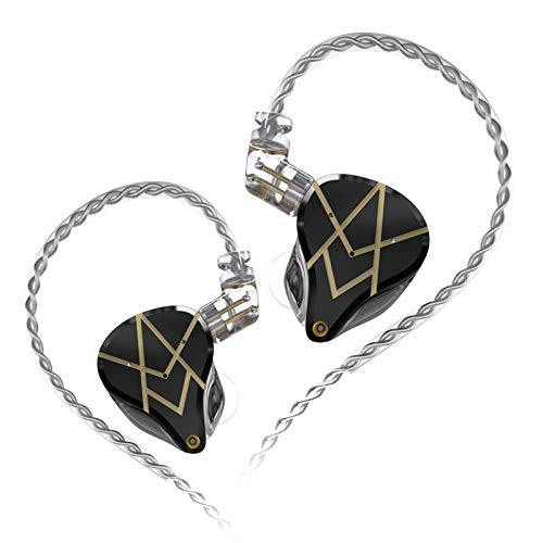KZ ASX Headset 20 unidades BA HIFI Bass equilibrado armadura auriculares intraural con cancelación de ruido (sin micrófono, negro)