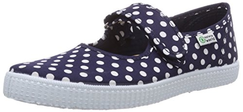 Natural World Mädchen Mercedes Velcro Topos Derby, Blau (Marino 77), 32 EU