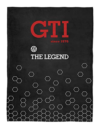 BRISA VW Collection - Volkswagen Golf GTI Fleece-Decke, Kuschel-Decke (150x200cm/Since 1976/Schwarz)
