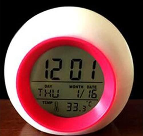 Reloj Despertador de Salida del Sol, Reloj de LED Digital, Reloj Despertador con 6 interruptores, demostración de Sonido Natural y Control táctil