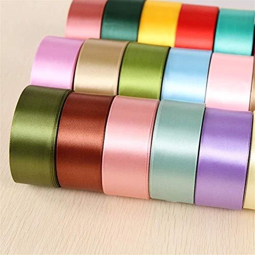 6mm 1 cm 1,5 cm 2,5 cm 2 cm 4 cm 5 cm de raso Cintas de bricolaje artificiales rosas de seda Crafts suministros de costura Accesorios álbum de recortes de materiales (Color: Oro, Tamaño: 1 cm) yqaae