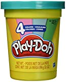 Play-Doh 2-Lb. Bulk Super Can of Non-Toxic Modeling Compound with 4 Modern Colors - Light Blue, Green, Orange, & Pink