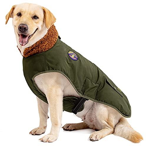 IREENUO Cappotto Cane,Impermeabile cappottino caloroso per cane per cani di taglia media e grande,Giacca invernale per cani con fibbia regolabile,XL