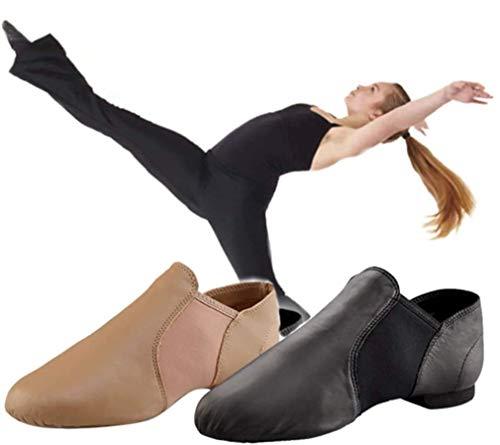 Capezio Capezio EJ2 Slip On Jazz Shoes, Dance Shoes, Side Gore, Jazz Dance, Cheer Dance (Camel (CAR), 6w (22cm))