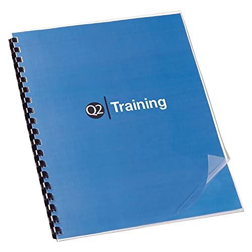 Swingline GBC 2020034P Clear View Presentation Covers, 8.5-W x 11-H, Clear, 100/Box