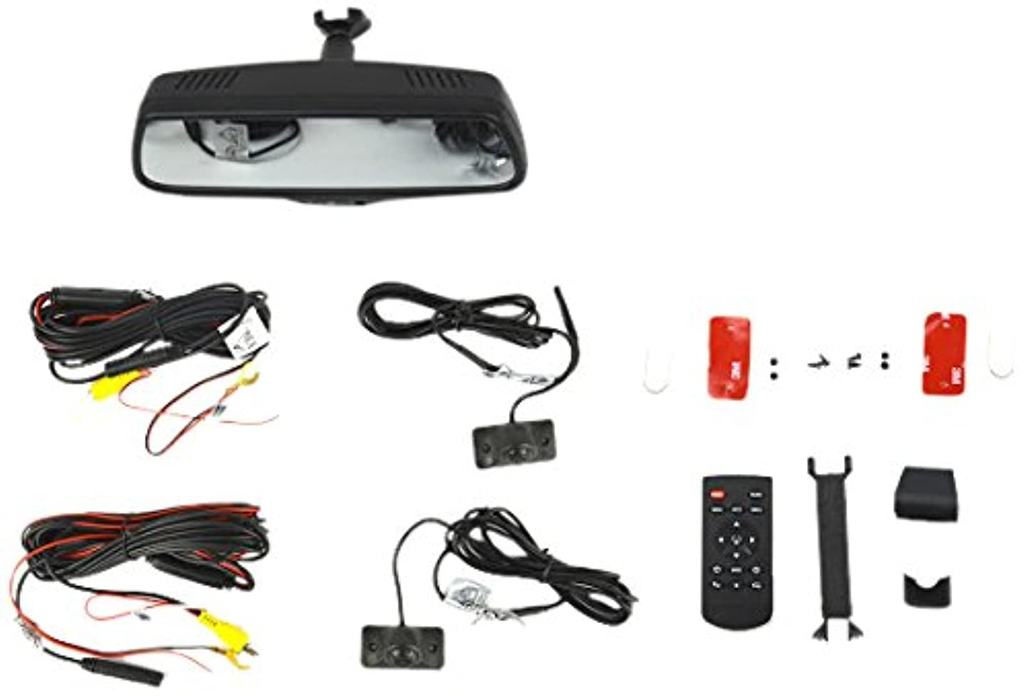 Brandmotion 9002-2906 Dual Camera Blind Spot Monitoring System with Display Mirror, 7.3