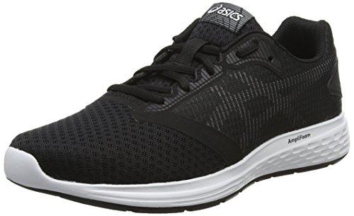 Asics Patriot 10 Zapatillas de Running Hombre, Multicolor (Black/White 001), 42 EU