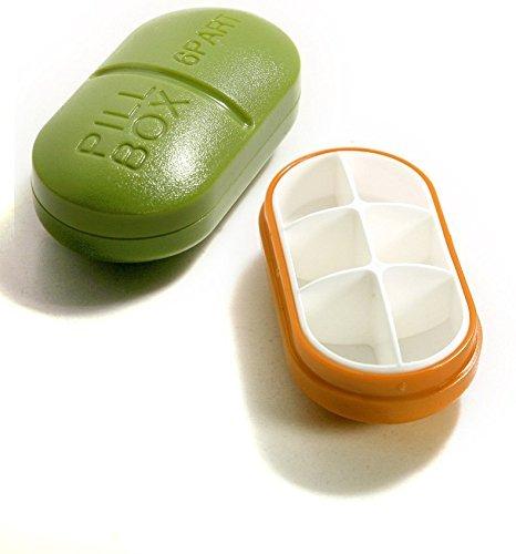 Glive's Medicine Storage Box Pill Organizer (1, Capsule 6 Slots)
