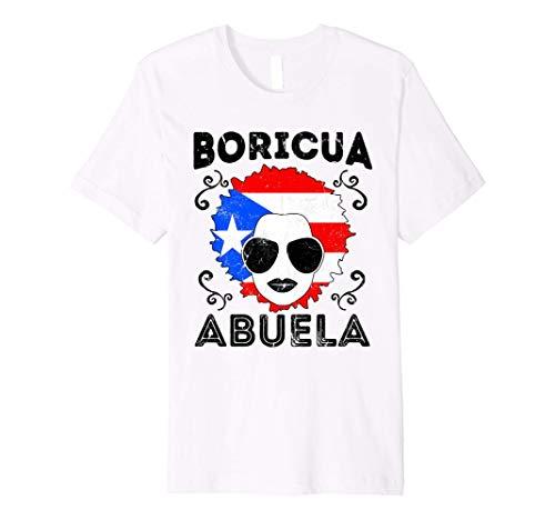 Puerto Rico TShirt Ladies Abuela Grandma Flag Mothers Day