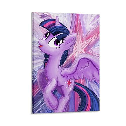 Twilight Sparkle My Little Pony Simple y Elegante Póster Personalizado Lienzo Fotos para Pared para Imprimir Enmarcados 50 x 75 cm
