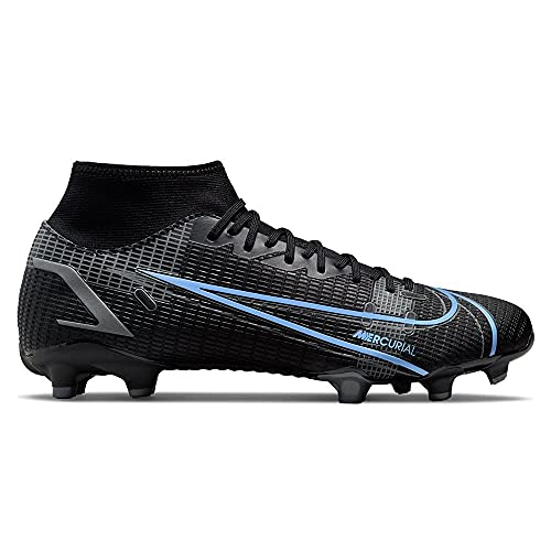 Nike Mercurial Superfly 8 Academy MG, Scarpe da Calcio Unisex-Adulto, Black/Black-Iron Grey, 39 EU