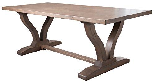 Vera Trestle Dining Table (72' L x 37' W, Deep Grey Finish)