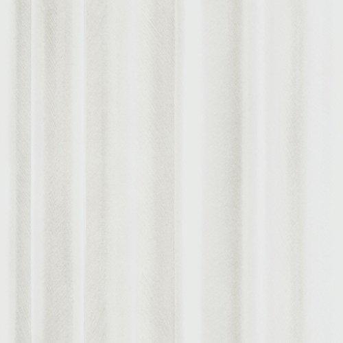 Front 4054 Vlies-Tapete zart gezeichnete, wellige Gardine, Vorhang in weiß und zartbeige