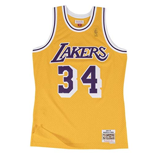 Mitchell & Ness Shaquille O'Neal Los Angeles Lakers NBA Throwback Gold Jersey