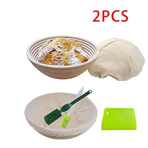 KEBEIXUAN Banneton Pan Cesta fermentación 2 Paquetes