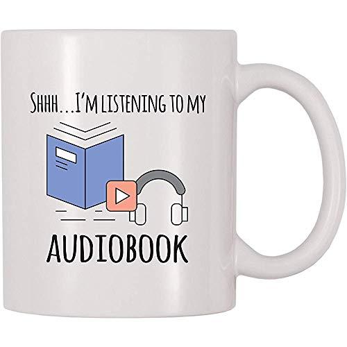 Shh ich höre meine Hörbuch-Kaffeetasse