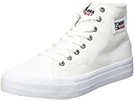 Tommy Jeans Mid Cut Long Lace Up, Vulc Pizzo Lungo Taglio Medio Uomo