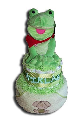 Nappy Cake Magic – Pañal de Rana para Torta Niños, Niñas o Neutro Bebé Regalo de Bautizo Regalo de Nacimiento