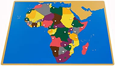 Montessori Africa Puzzle Map (Without Control maps)