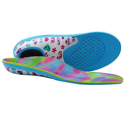 EVERHEALTH Solette per bambini con supporto per arco comfort, inserti per scarpe ortesi per correttore di pronazione dei piedi piatti, suole interne ortopediche per bambini attivi per ammortizzare