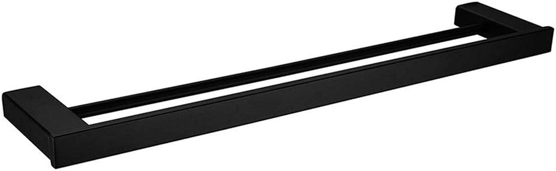 mejor oferta LGNB Soporte para Barra Doble de rieles rieles rieles de Toalla, Barra de Toalla Acero Inoxidable Moderno 1pc - Bao montado en la Parojo  entrega gratis