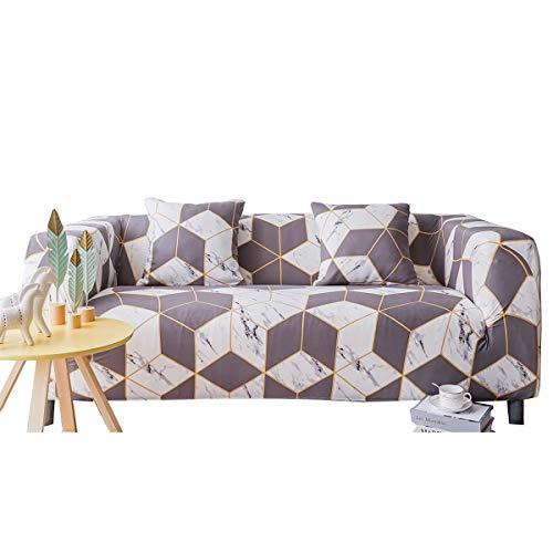 ENZER Funda de sofá Impresa para 1 2 3 Sofá de 4 plazas-Spandex Ajuste elástico con Funda de sofá-Funda de sofá antirrugas Antideslizante fácil de Llevar de 1 Pieza (Dos Plaza, Marble)