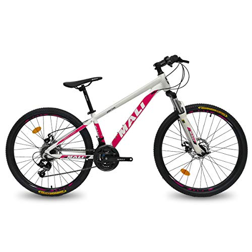 Hiland 26 Inch Wheel Mountain Bike Aluminum Disc-Brake 21Speed MTB Bicycle for Women with Suspension Fork Urban Commuter City Bicycle 13 Inch Frame Size