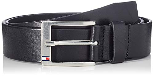 Tommy Hilfiger New Aly Belt Cintura, Nero (Black 090), 105 Uomo