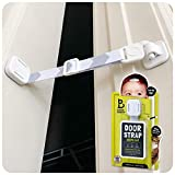 Door Buddy Baby Proof Door Lock with Adjustable Strap. No Need for Baby Gate. Child Proof Room with Litter Box While Cats Enter Easily. Installs in Seconds and is Simple & Convenient to Use. (Grey)