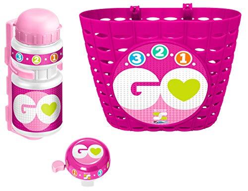 Stamp- Combo Pink (Basket-Drinking Bottle-Belle) Skids Control, Color Rosa, (K670508)